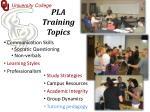 pla training topics