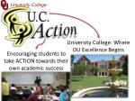 university college where ou excellence begins