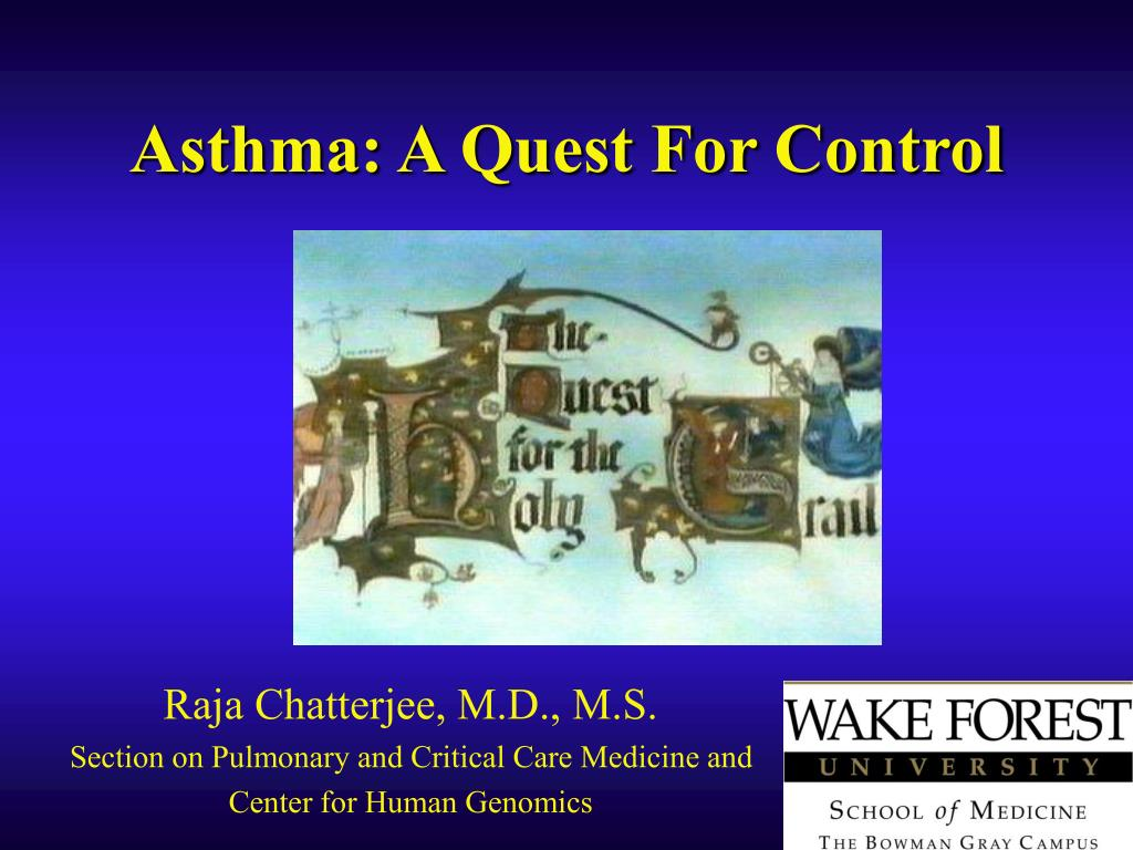 asthma a quest for control l.