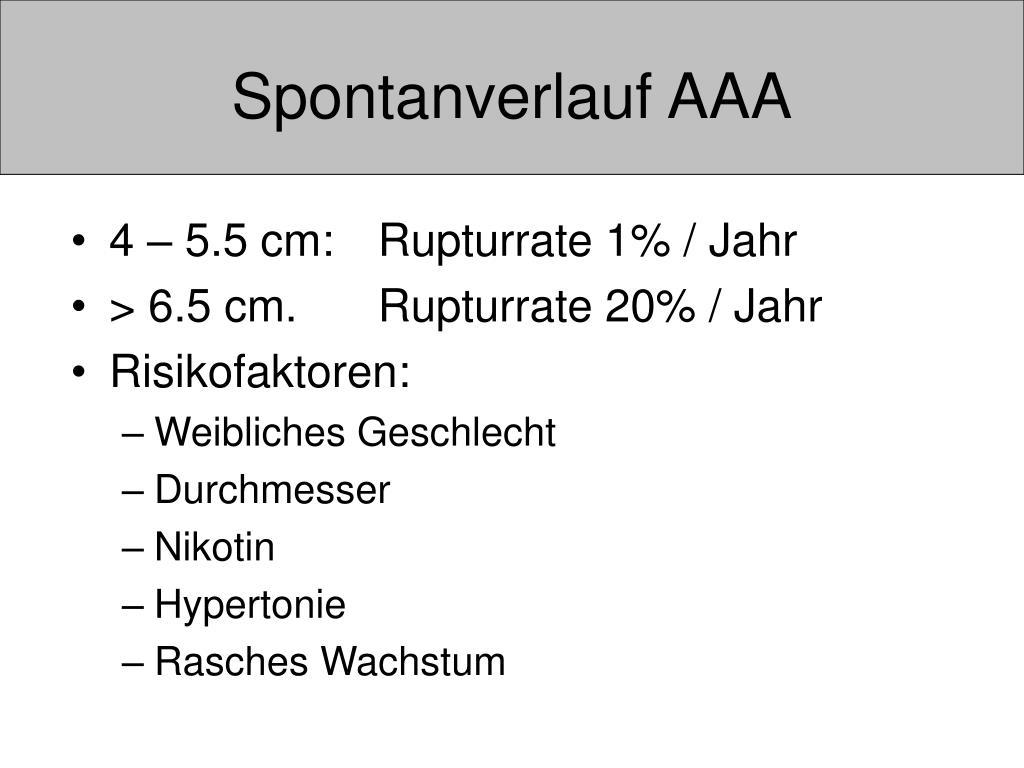 PPT - Aortenaneurysma PowerPoint Presentation, free..