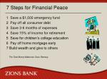 7 steps for financial peace