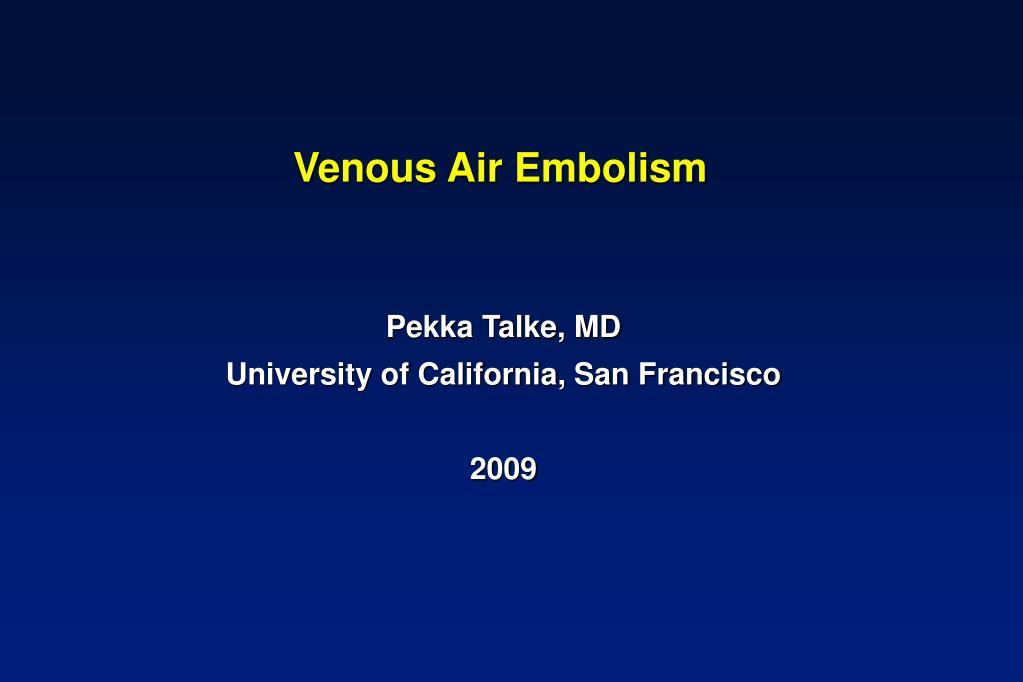 venous air embolism l.