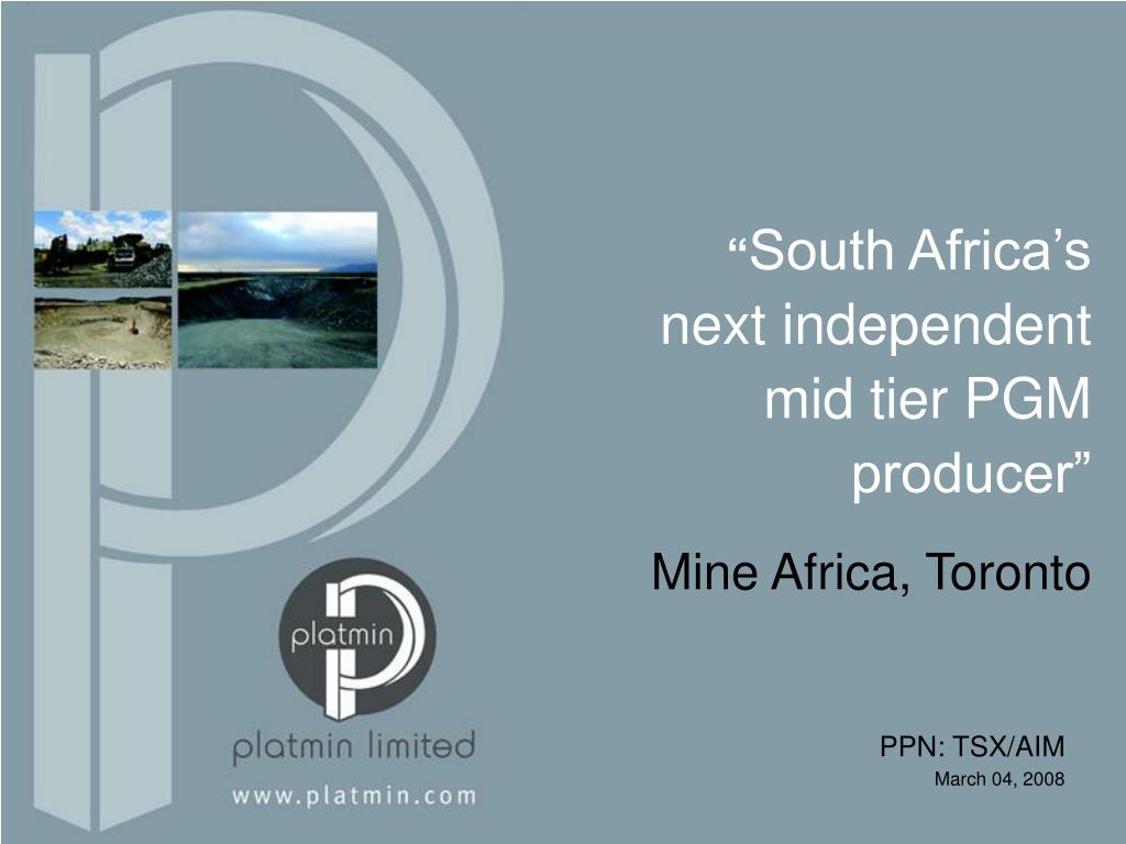 south africa s next independent mid tier pgm producer l.