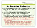 active active challenges