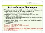 active passive challenges