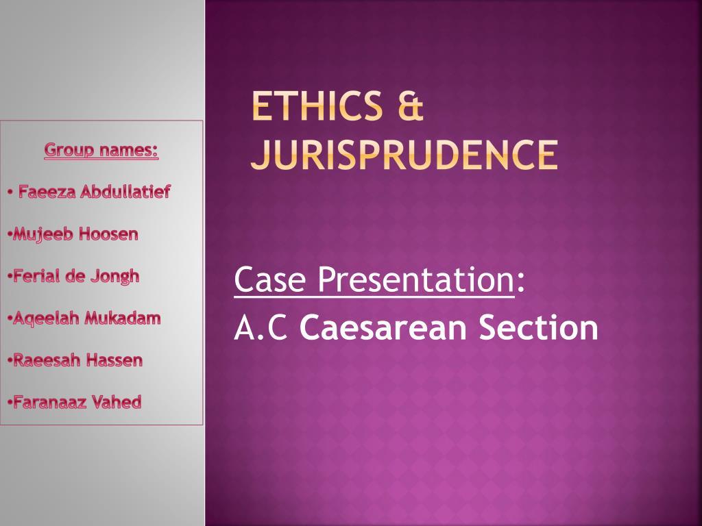 ethics jurisprudence l.