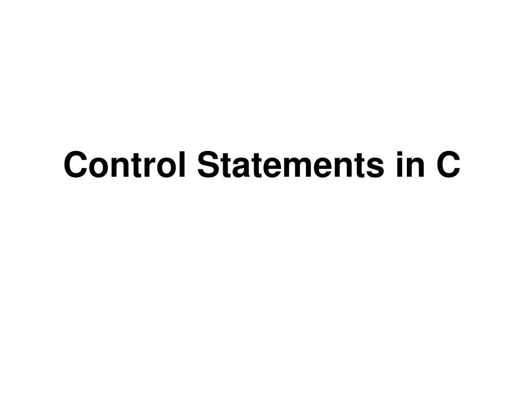 control statements in c l.