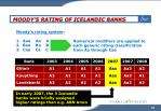 moody s rating of icelandic banks