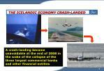 the icelandic economy crash landed