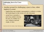 challenging jurors for cause bias