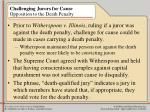 challenging jurors for cause opposition to the death penalty