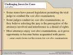 challenging jurors for cause voir dire