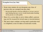 exemption from jury duty17