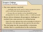premptory challenge prohibiting the challenge