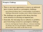 premptory challenge