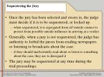 sequestering the jury