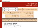 interpolacja przyk ad 2 n 2