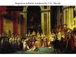 napoleon in rome rendered by j l david