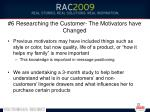 6 researching the customer the motivators have changed