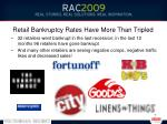 retail bankruptcy rates have more than tripled
