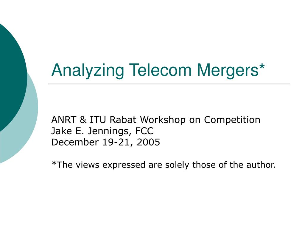 analyzing telecom mergers l.