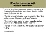 effective instruction with graphic organizers