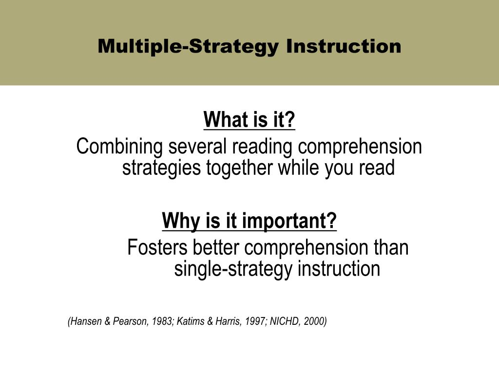 Multiple-Strategy Instruction