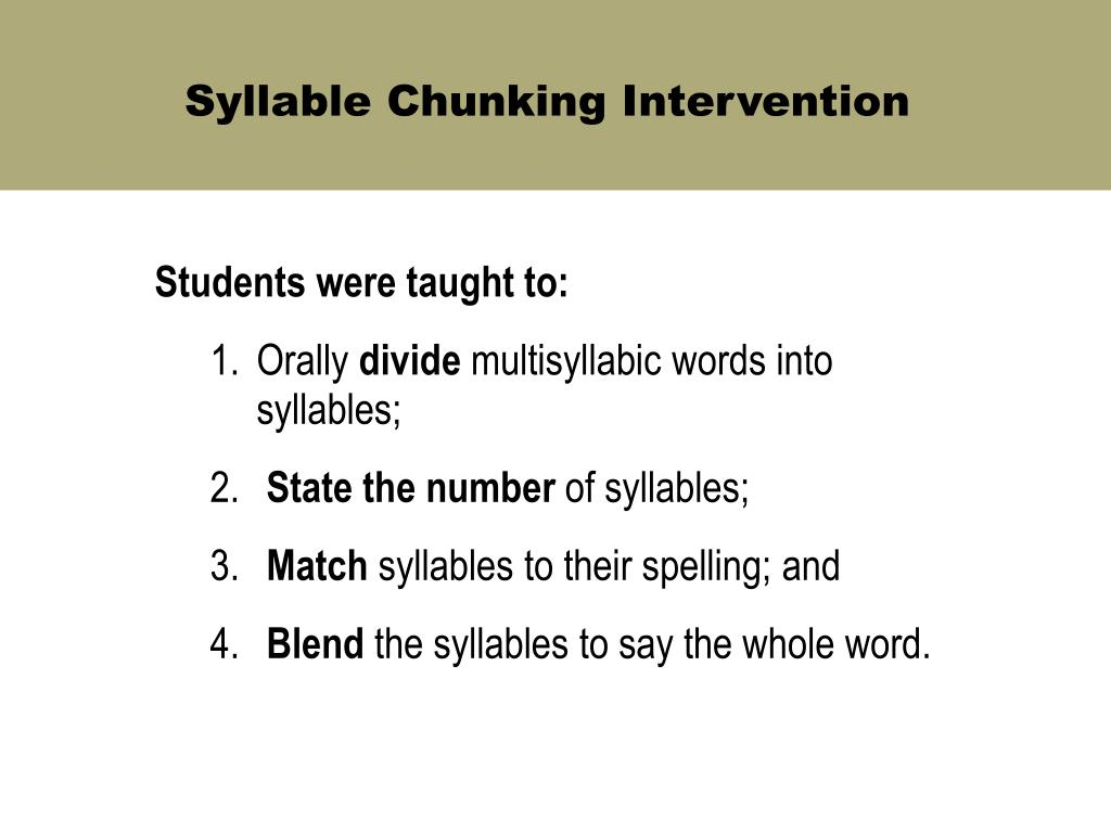 Students were taught to: