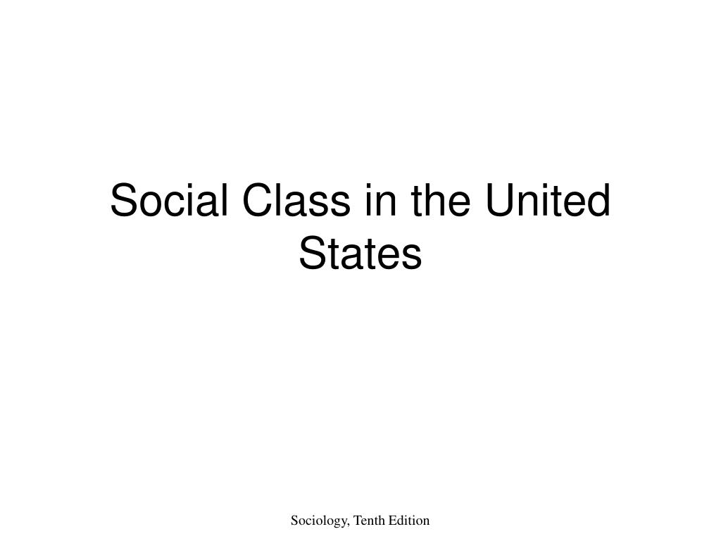 social class in the united states l.