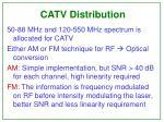 catv distribution