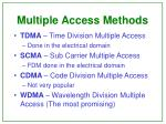 multiple access methods