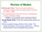 review of modes
