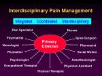 interdisciplinary pain management