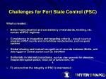 challenges for port state control psc