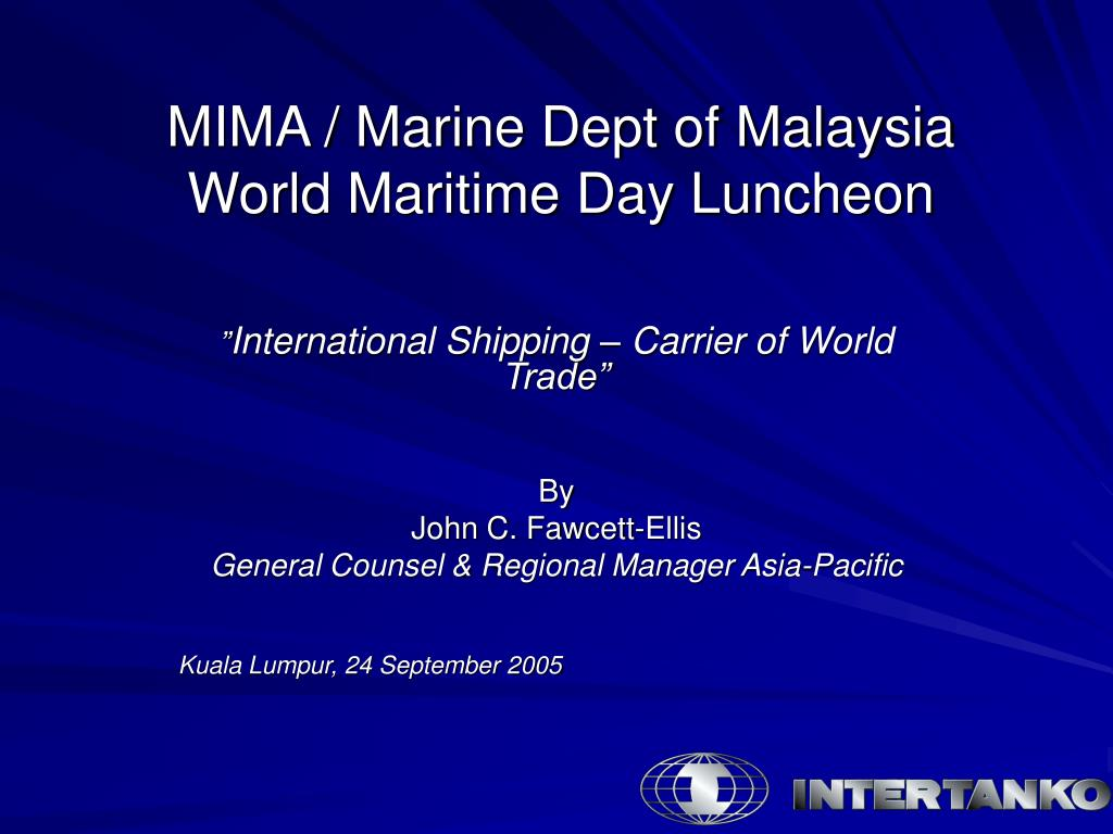 mima marine dept of malaysia world maritime day luncheon l.