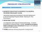 programy strategiczne