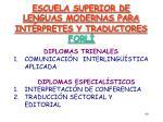 escuela superior de lenguas modernas para int rpretes y traductores forl