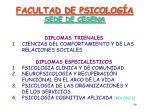 facultad de psicolog a sede de cesena
