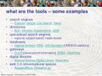 what are the tools some examples