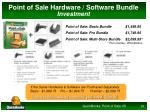 point of sale hardware software bundle investment