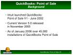 quickbooks point of sale background