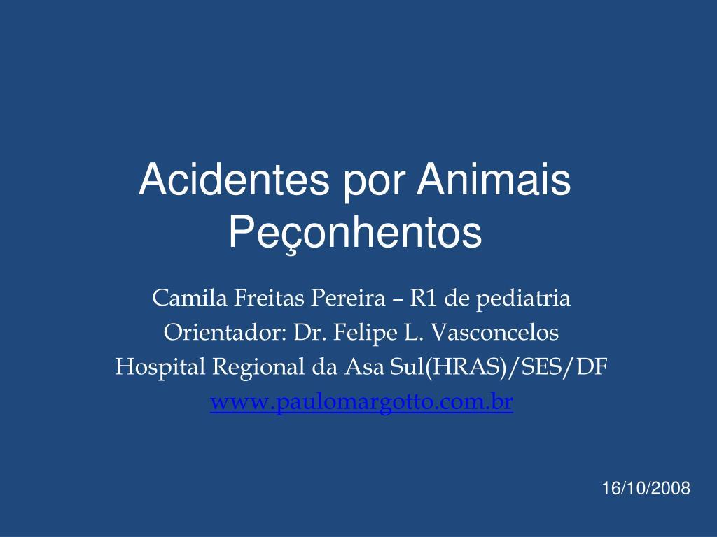 acidentes por animais pe onhentos l.