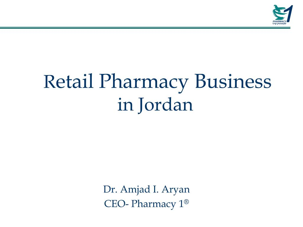 r etail pharmacy business in jordan l.