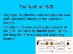 the tariff of 1828