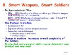 8 smart weapons smart soldiers