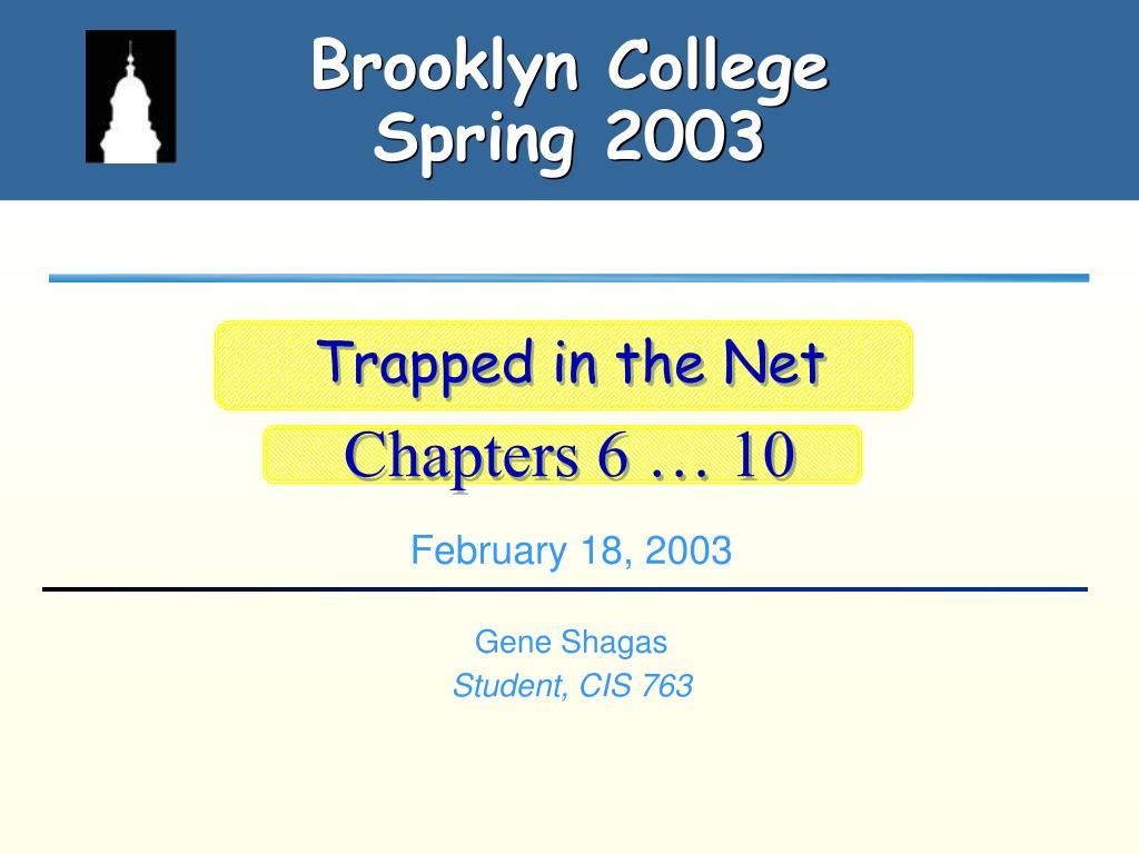 brooklyn college spring 2003 l.