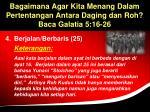 bagaimana agar kita menang dalam pertentangan antara daging dan roh baca galatia 5 16 2638