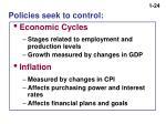 policies seek to control