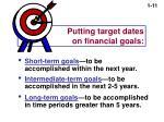 putting target dates on financial goals