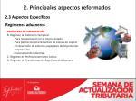 2 principales aspectos reformados17